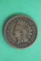1863 Indian Head Cent Penny CN Exact Coin Shown Flat Rate Shipping OCE 40