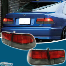 For 1996 2000 Honda Civic Coupe Red Smoke 2Dr Rear Brake Lamps Tail Lights