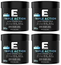 ELEGANCE Triple Action EARTH Super Strong Hold Styling Gel 16.9oz (PACK of 4)