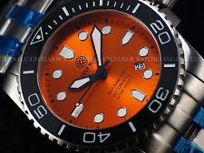 "NEW "" Rare Lumed Bezel "" Deep Blue LE # 49 45mm Sea Ram Automatic Sapphire Diver"