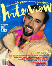 INTERVIEW August 1994 NICOLAS CAGE Cameron Diaz SANDRA BERNHARD John Travolta