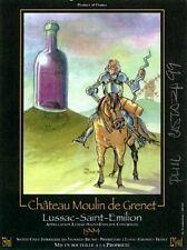 Ex-libris Castaza  Etiquette Vin Don Quichotte ex signé 9x12