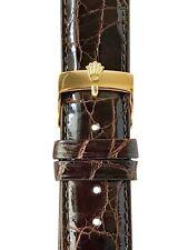 20 mm Genuine Crocodile Marrone Pelle Cinturino Rolex
