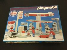 VINTAGE 1981# Playmobil 3439  Esso Station Playset ESSO #BOXED RARE