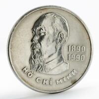 Vietnam 20 dong 100th Anniversary Birth of Ho Chi Minh silver coin 1989