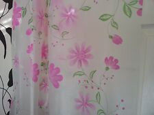 Pink Flowers With Green Leaves Shower Curtain Brand New Beautiful Designs