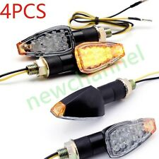 4x Universal Motorcycle Bike LED Turn Signal Blinker Light Indicator Mount Amber