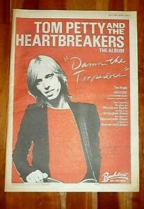 TOM PETTY & HEARTBREAKERS TORPEDOES FULL PAGE PRESS ADVERT POSTER SIZE  37/26CM