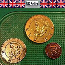 Harry Potter Wizard World Coin Set Galleon Sickle Knut Gringotts Bank UK Seller