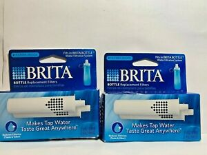 2 BRITA Bottle Replacement Filters Soft Squeeze 4 Total Filters