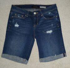 Aeropostale Denim Destressed Jean Long Shorts Womens Sz 4