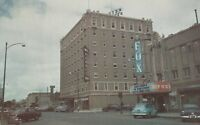 (X) North Platte, NE - Street Scene at Fox Theater - Pawnee Hotel - CLASSIC CARS