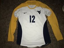 Nike West Virginia Mountaineers #12 Womens Volleyball L/S White Game Jersey *L*