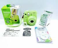 Fuji film Instax Mini 9 Instant Camera Lime Green BUNDLE 5 Films and Selfie Lens