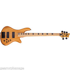 Schecter Stiletto-5 Session Aged Natural Satin ANS *NEW* Bass + FREE GIG BAG!