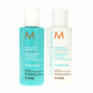 Moroccanoil Travel Size Hydration Shampoo & Conditioner, Mask 70ml
