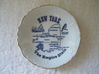 """Vintage Souvenir New York """" The Empire State """" Collectible Small Dish"""