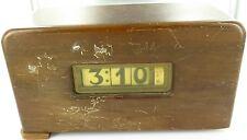 `VINTAGE PENNWOOD ELECTRIC WOODEN CASED FLIP CLOCK. HARD TO GET IN AUSTRALIA !