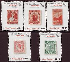 Nueva Zelanda 2005 150 años sellos de Nueva Zelanda conjunto de 5 Menta desmontado, estampillada sin montar o nunca montada