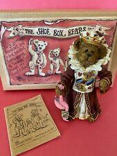 Boyds True Blue Shoe Box Bear The Queen of Hearts.Croquet Anyone? 1st Ed #3239