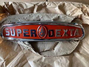 fordson super dexta tractor Badge Genuine