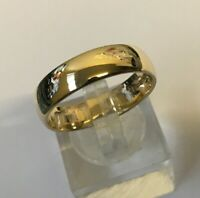 Men's/Women's 9ct Gold Vintage Wedding Band Ring Size T Weight 5.1g Stamped