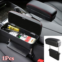 Adjustable Car Armrest Arm Rest Centre Console Leather Box Elbow Support Cushion