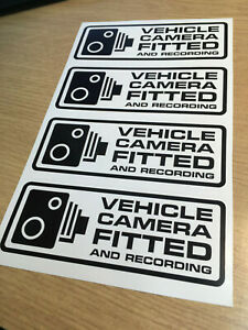 x4 Vehicle camera fitted in Dashcam Warning Sticker car / Fleet van CCTV