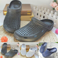 1 Pair Mens Casual Beach Summer Clogs Shoes Slip On Garden Pools Flat Slippers