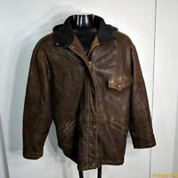 Elements ORJIN Lambskin Leather JACKET Womens Size L distressed Brown insulated