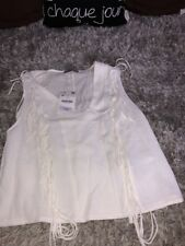 ❤✿❤ CHEMISE TUNIQUE BLOUSE TOP FRANGES ZARA TAILLE M NEUF VAL 26 EUROS  ❤✿❤