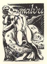 Erotic Ex Libris Luc de Jaegher : Malvu