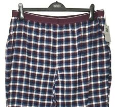M&S Marks 2XL XXL W42/44 L31 Mens Red Check Cotton Pull On Pyjama Bottoms BNWT