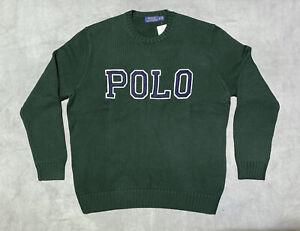 New Mens POLO Ralph Lauren Sweatshirt Top Sweater Hoodie XL RRP £145 Green