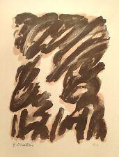 Robert HELMAN (1910-1990) Lithographie IV Originale Signée 1965 Hans Hartung