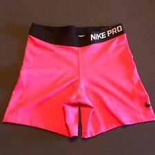 """Nike Pro Girls Size XL 4""""  Shorts Dri-Fit Training Pink 819609 639"""