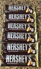 6 X Hershey's Milk Chocolate With Almonds Bars 1.45oz  Each