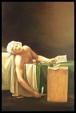 "* 36""x24"" Oil Painting on Canvas, The Death of Marat, Hand Painted"