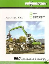 Equipment Brochure - Sennebogen - 830 - Material Handling Crane - 2011 (E1927)