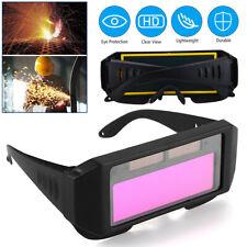 Lcd Solar Power Auto Darkening Welding Goggle Helmet Eyes Welder Glasses