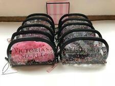 Lot of 10 VICTORIA'S SECRET Sequin Clear Makeup Cosmetic Case Beauty Bag BNWT