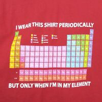 Periodic Table Elements T Shirt Long Sleeve XL Chemistry Teacher Science Nerd