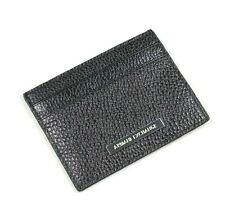 ARMANI EXCHANGE A/X Mens Genuine BUFFALO HIDE Leather LOGO Card Case Wallet