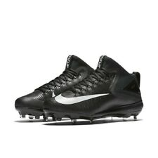 Nike Force Zoom Trout 3 Black sz 13 856503 011 White Mid Metal Baseball Cleat