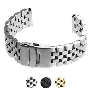 StrapsCo Heavy Duty Stainless Steel Super Engineer Metal Watch Band Bracelet