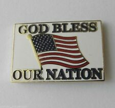 USA UNITED STATES GOD BLESS OUR NATION EMBLEM LAPEL PIN BADGE 1 INCH
