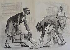 Thomas Nast. Killing Polite. Harper's Weekly, 1876.