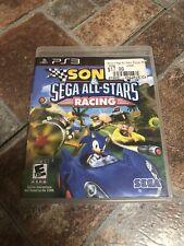 Sonic & Sega All-Stars Racing (Sony PlayStation 3, 2010) PS3 Complete CIB