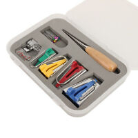 Bias Tape Maker Kit Set for Sewing Quilting Awl and Binder Foot Case Tools 60Set