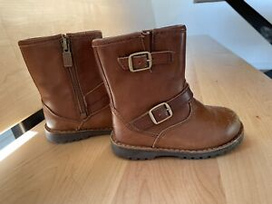 Ugg Toddler Size 7 Boots BROWN buckle zipper Closure 1001515 Kids Leather